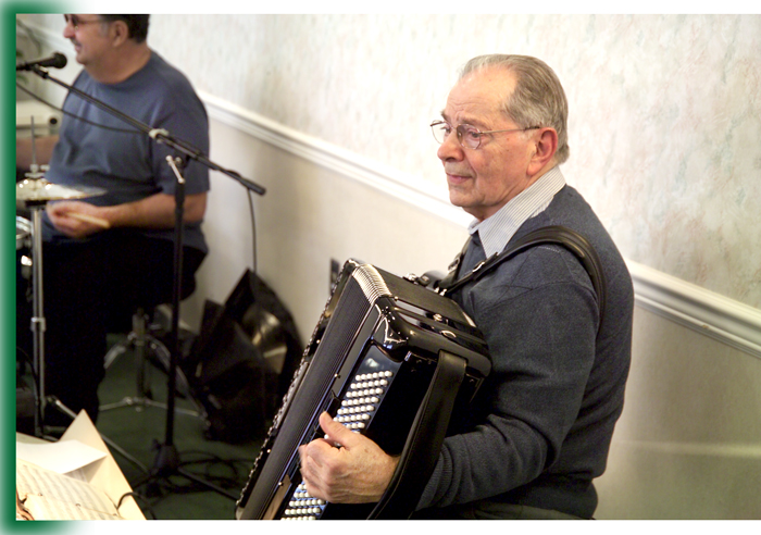Accordian Player at Laurel View Village