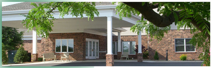 Main Entrance to Vista Apartments, Laurel View Village, Davidsville, PA