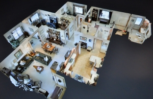 3D panorama photo of Laurel View Village Townhome, Davidsville, PA