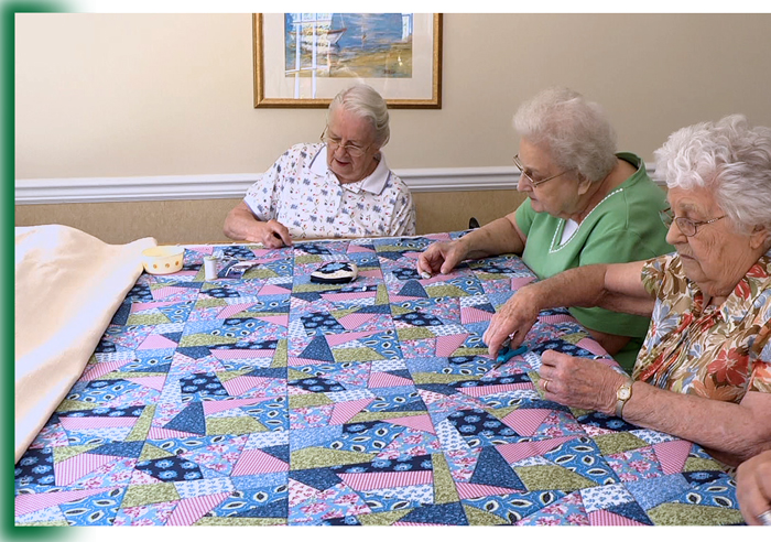 Quilting group at Laurel View Village, Davidsville, PA